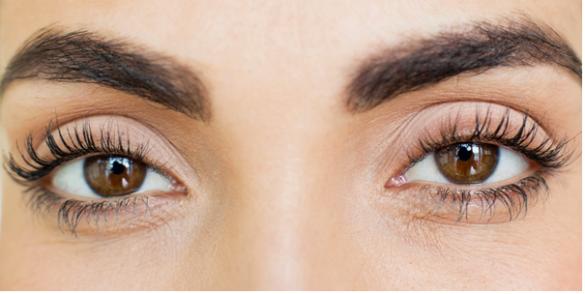 Eyelashes using Careprost
