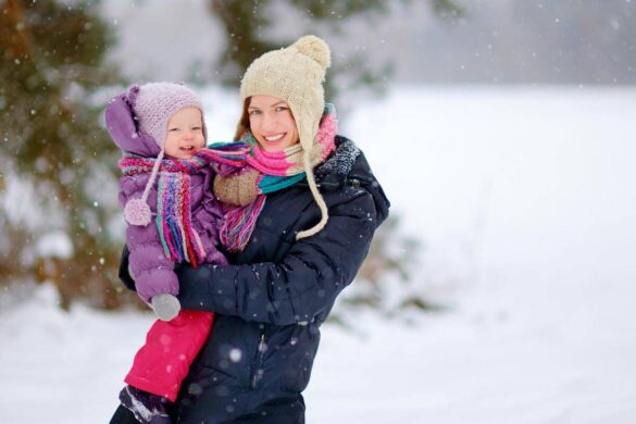 Winter fashion for the Babies and Mothers